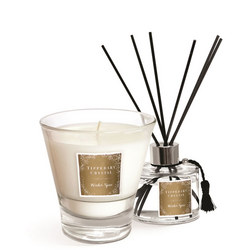 Winter Spice Candle & Diffuser Gift Set Gold-Tone