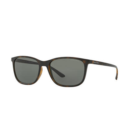 Havana Square Sunglasses Brown