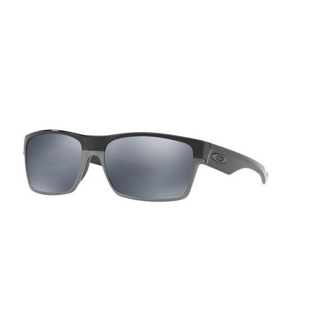 Twoface Silver Lens Sunglasses Black