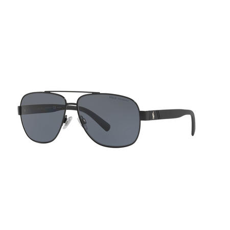 Polarised Pilot Sunglasses Black