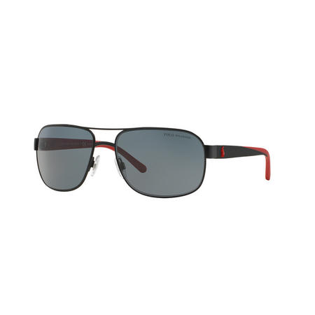 Polarised Square Sunglasses Black