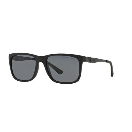 Polarised Rectangle Sunglasses Black
