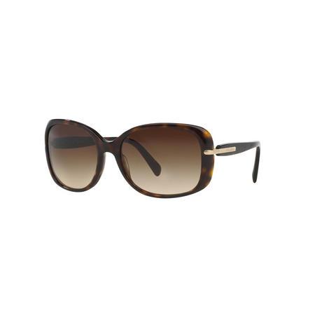 Havana Rectangle Sunglasses  Brown