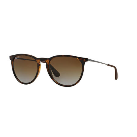Havana Erika Pilot Plain Sunglasses Brown