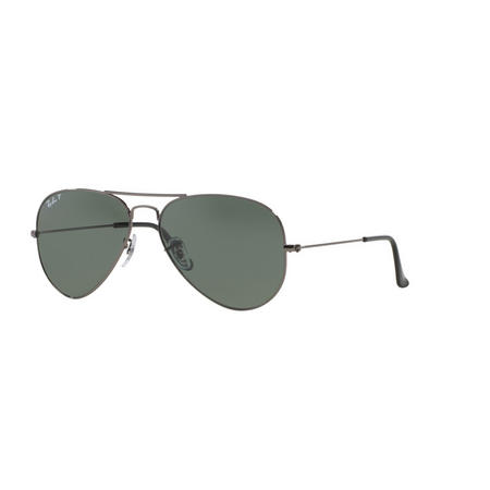 Aviator Large Metal Pilot Sunglasses Grey