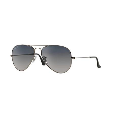 Aviator Grey Lens Large Metal Pilot Sunglasses  Grey