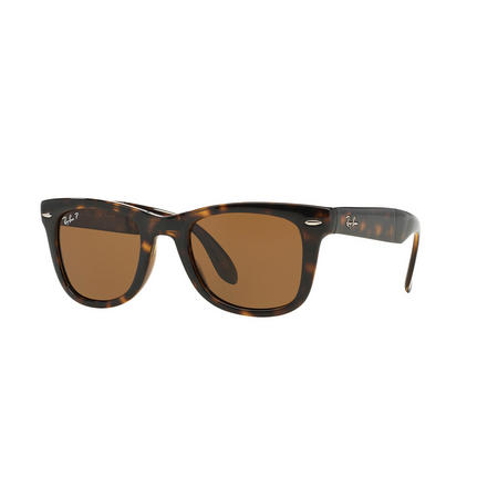 Folding Wayfarer Square Sunglasses  Brown