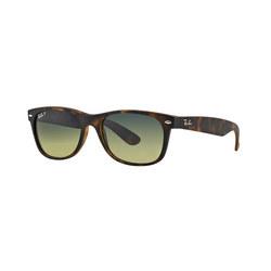 Havana New Wayfarer Green Lens Sunglasses Brown