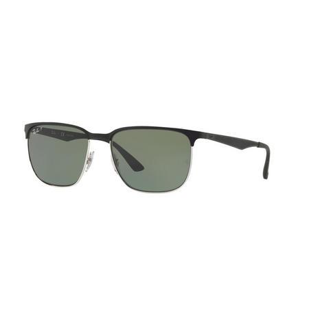 RB3569 Polarised Square Sunglasses Silver-Tone