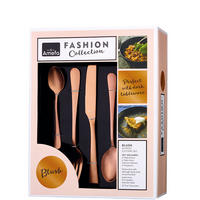Fashion Collection Blush 24 Piece Cutlery Set Gold-Tone