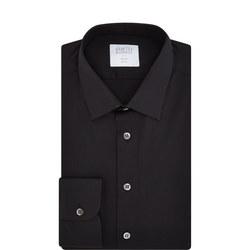 Stretch Poplin Slim Fit Formal Shirt Black
