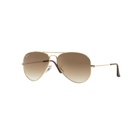 f065fc5673 Aviator Large Metal Pilot Sunglasses RB3025 Gold-Tone