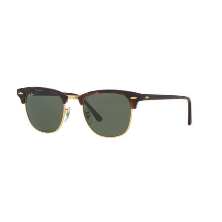 Havana Clubmaster Square Sunglasses Brown