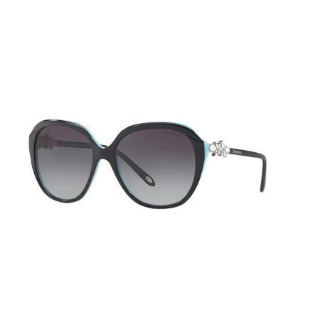 TF4132HB Square Sunglasses Black