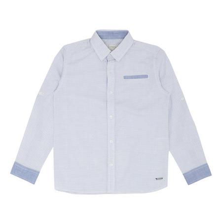Boys Dot Pattern Shirt Blue