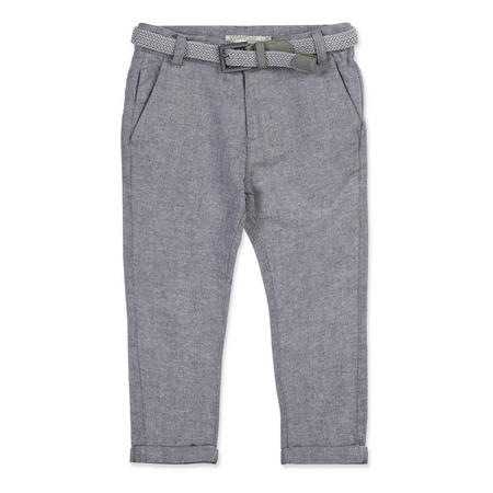 Boys Linen Trousers Blue