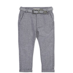 Boys Linen Trousers Blue