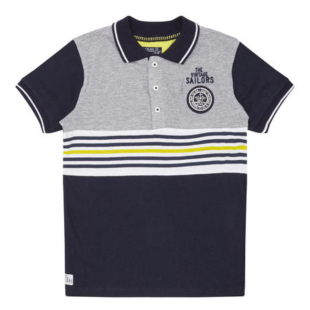 Boys Vintage Polo Shirt Grey