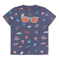 Boys Glasses T-Shirt Blue