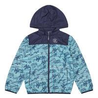 Boys Beach Print Jacket Blue