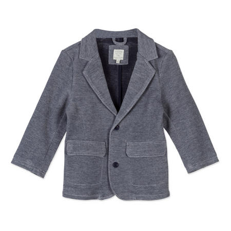 Boys Textured Blazer Blue