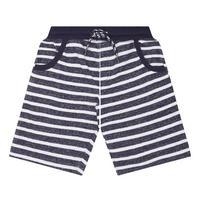 Boys Striped Sweat Shorts Navy