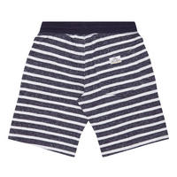 Boys Striped Sweat Shorts Navy