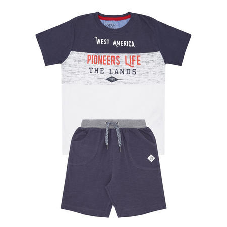 Boys Two-Piece T-Shirt & Shorts Navy