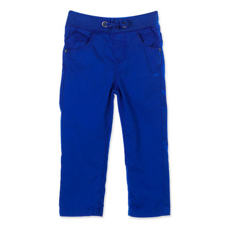 Boys Twill Elastic Waist Trousers Blue