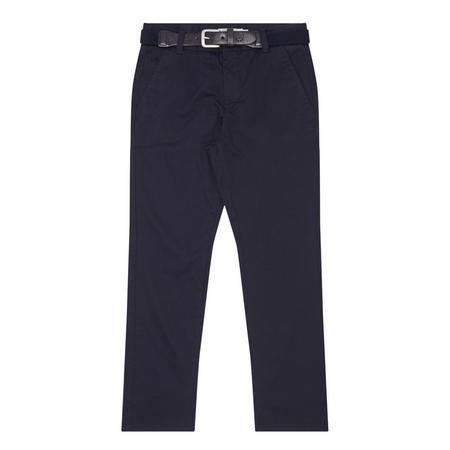 Boys Belted Chinos Navy