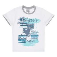 Boys California Print T-Shirt White