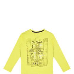 Boys Anchor Print T-Shirt Yellow