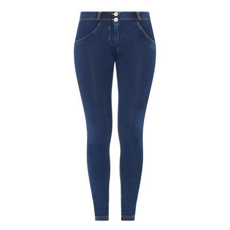 Mid Rise Skinny Jeans Dark Wash Blue