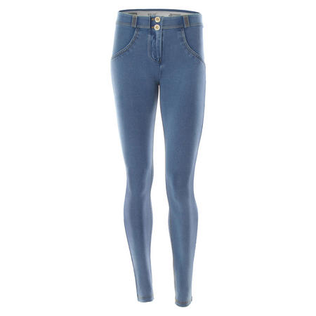 Mid Rise Skinny Jeans Light Wash Blue