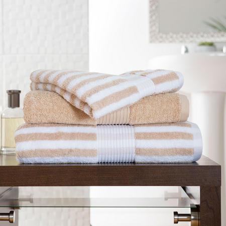 Bliss Stripe Towel Biscuit Beige