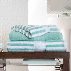 Bliss Stripe Towel Spearmint Green