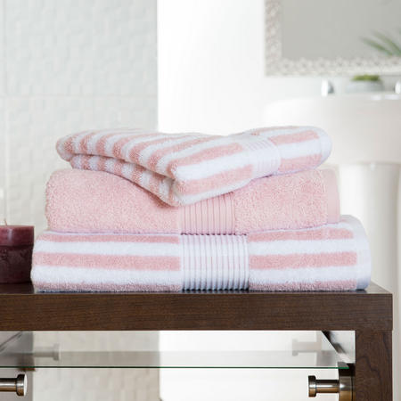 Bliss Stripe Towel Pink
