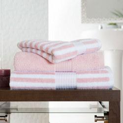 Bliss Stripe Towel Pink