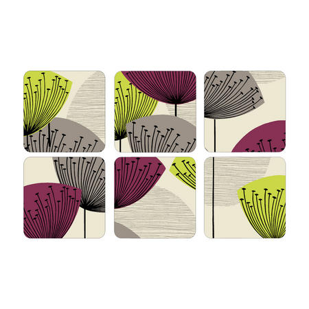 Dandelion Coasters Set of Six Multicolour
