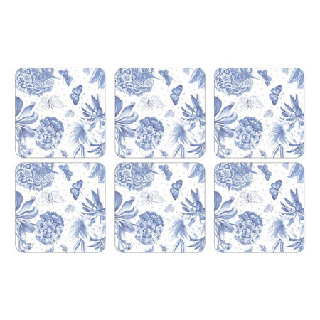 Pimpernel Botanic Blue Set of 6 Coasters