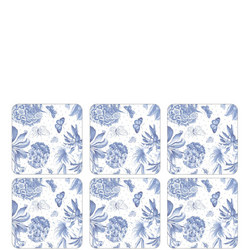 Pimpernel Botanic Blue Set of 6 Coasters