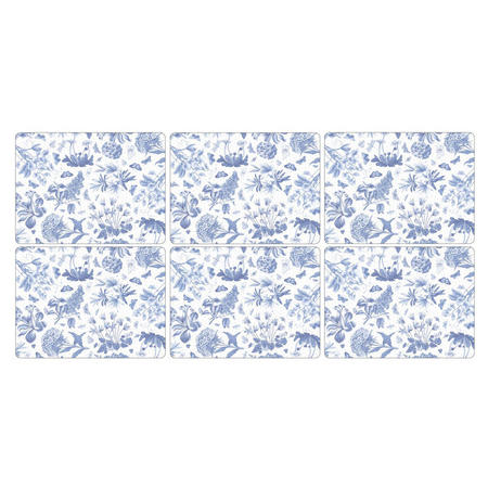 Pimpernel Botanic Blue Set of 6 Placemats