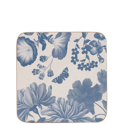 Butterfly Blooms Coasters 6 Piece White