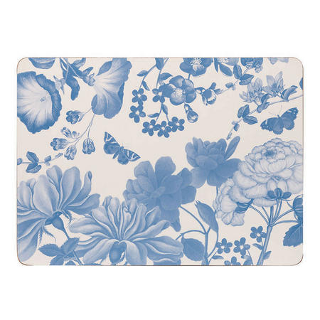 Butterfly Blooms Placemats White