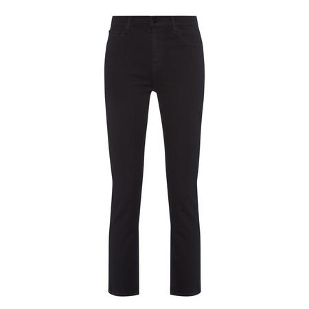 Ruby High Rise Cropped Jeans Black