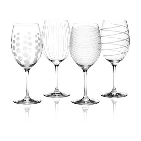 Mikasa Cheers Set Of 4 Red Wine Glasses