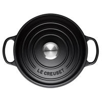 Signature Cast Iron Round Casserole 24cm Satin Black