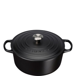 Signature Cast Iron Round Casserole 26cm Satin Black