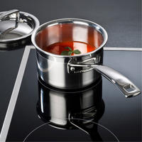 3-Ply Stainless Steel 14cm Saucepan And Lid