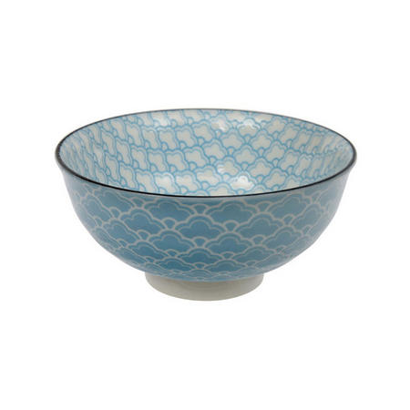 Tea Pattern Bowl Blue